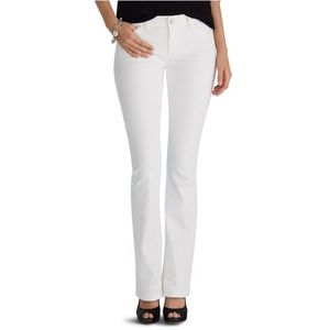 WHBM Skinny Flare White Jeans Size 6